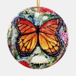 Ornamento de la mariposa de monarca de PMACarlson Ornamentos De Navidad