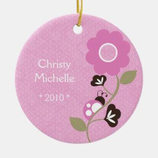 Ornamento de la mariquita del bebé ornamento de navidad