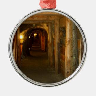 Ornamento de la mina de oro ornaments para arbol de navidad
