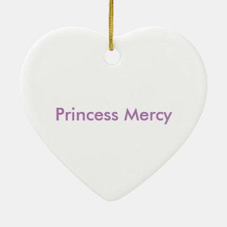 Ornamento de la misericordia adorno navideño de cerámica en forma de corazón