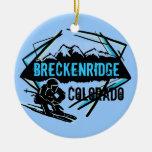 Ornamento de la montaña del esquí de Breckenridge Adorno Para Reyes