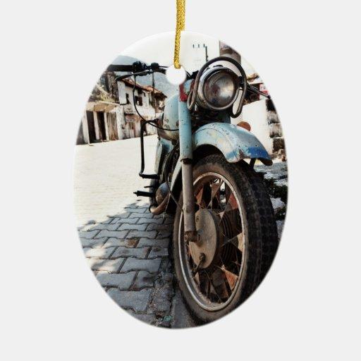 Ornamento de la motocicleta del vintage adorno de navidad
