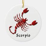 Ornamento de la muestra del escorpión adornos