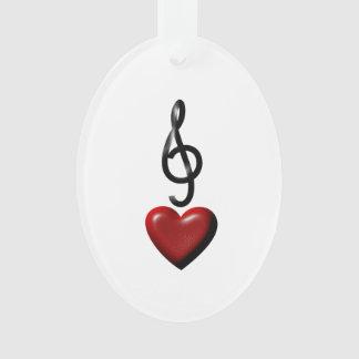 Ornamento de la música del amor