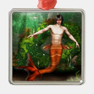 Ornamento de la natación del Merman Adorno De Navidad