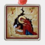Ornamento de la natividad adornos de navidad