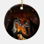 Ornamento de la Nochebuena de un dragón Ornamentos De Navidad