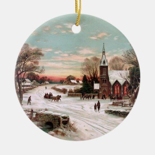 Ornamento de la Nochebuena del vintage Adorno De Navidad