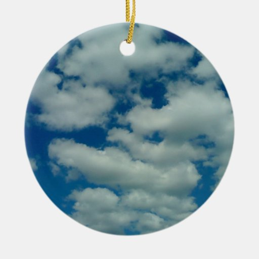 Ornamento de la nube adorno navideño redondo de cerámica