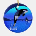 Ornamento de la orca adorno para reyes