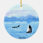 Ornamento de la orca de Alaska Ornato