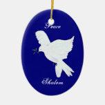 Ornamento de la paloma de la Shalom-Paz Adornos