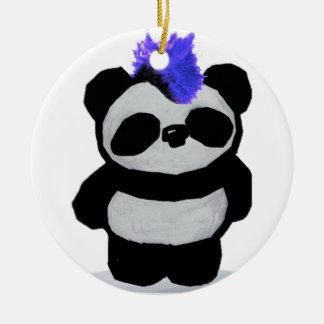 Ornamento de la panda del punk rock ornamento de reyes magos