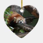 Ornamento de la panda roja el dormir ornamentos de reyes magos