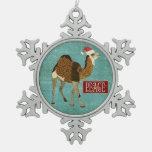 Ornamento de la paz del camello adorno
