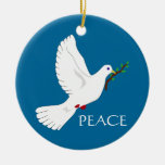 Ornamento de la paz ornamento de navidad