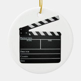 ORNAMENTO de la película de la tablilla de la Adorno Navideño Redondo De Cerámica