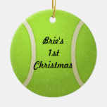 Ornamento de la pelota de tenis ornamento de navidad