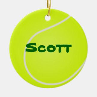 Ornamento de la pelota de tenis ornamento para reyes magos