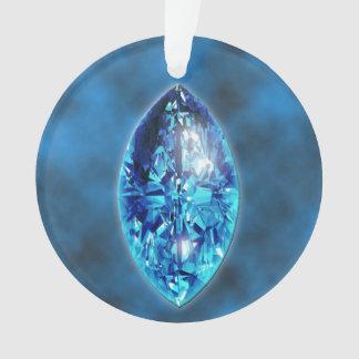 Ornamento de la piedra preciosa del zafiro