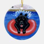 Ornamento de la pintura de Labradors de la fiesta  Adorno De Reyes