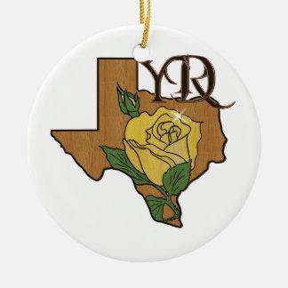 Ornamento de la plantilla del logotipo adorno navideño redondo de cerámica