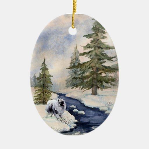 Ornamento de la porcelana de Kees de la nieve Adorno
