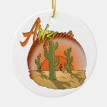 Ornamento de la puesta del sol de Arizona Adorno Navideño Redondo De Cerámica
