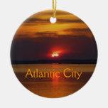 Ornamento de la puesta del sol de Atlantic City Ornato