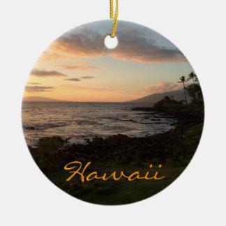 Ornamento de la puesta del sol de la isla hawaiana ornamentos para reyes magos