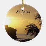 Ornamento de la puesta del sol de St Lucia Ornamente De Reyes