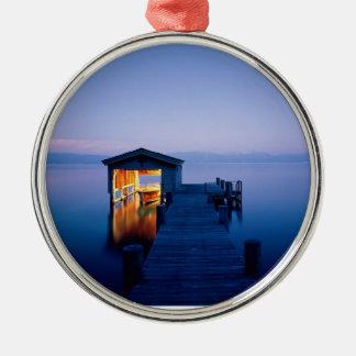 Ornamento de la puesta del sol del lago Tahoe Ornamento De Navidad