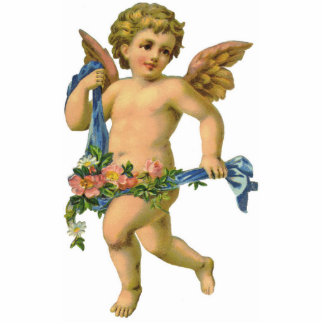 Ornamento de la querube del ángel del vintage que  adorno fotoescultura