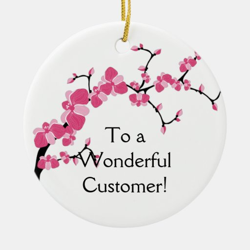 Ornamento de la rama de árbol de la flor de cerezo adornos de navidad
