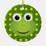 Ornamento de la rana verde ornaments para arbol de navidad