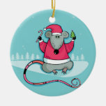 Ornamento de la rata del navidad ornamento de navidad