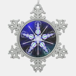 Ornamento de la Re-PHI-ning Adorno De Peltre En Forma De Copo De Nieve