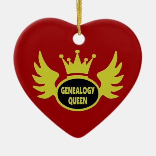 Ornamento de la reina de la genealogía adorno
