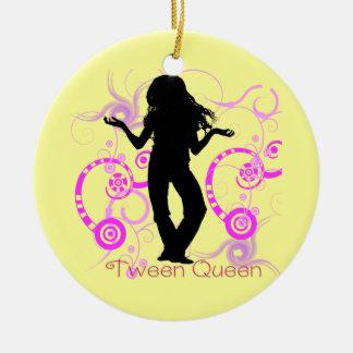 Ornamento de la reina del tween ornamento de navidad
