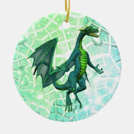 Ornamento de la respiración de los dragones ornamentos para reyes magos