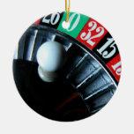 Ornamento de la rueda de ruleta adornos de navidad