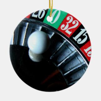 Ornamento de la rueda de ruleta adorno redondo de cerámica