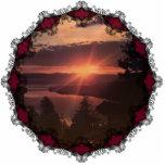 Ornamento de la salida del sol del lago Tahoe Esculturas Fotograficas