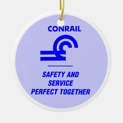 Ornamento de la seguridad y del servicio de adorno navideño redondo de cerámica