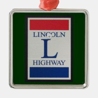 Ornamento de la señal de tráfico de la carretera d ornamentos de navidad