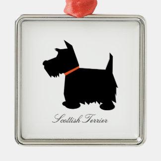 Ornamento de la silueta del negro del perro de Ter Ornamento Para Reyes Magos