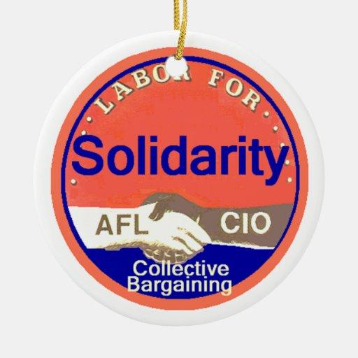 Ornamento de la solidaridad ornaments para arbol de navidad