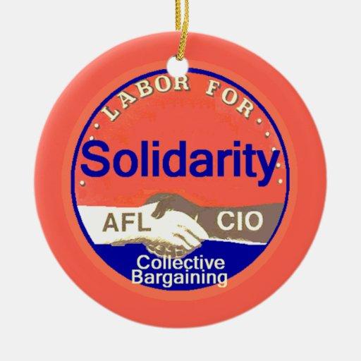 Ornamento de la solidaridad adornos de navidad
