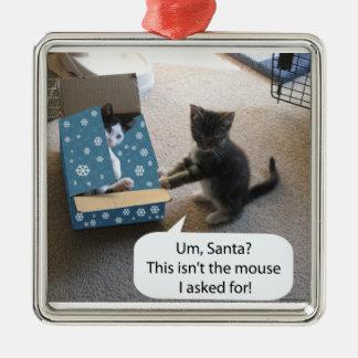 Ornamento de la sorpresa del navidad del gatito adorno