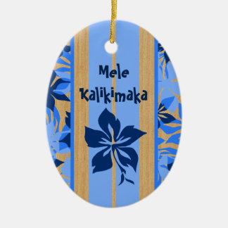 Ornamento de la tabla hawaiana de Velzyland Ornamentos De Navidad